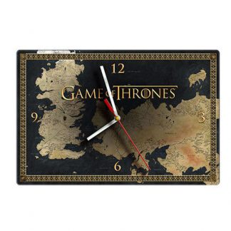 Game of Thrones Map Glass Clock
