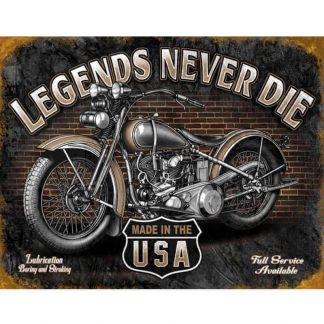 Legends Never Die Tin Sign