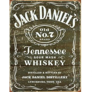 Jack Daniels Weathered Tin Sign