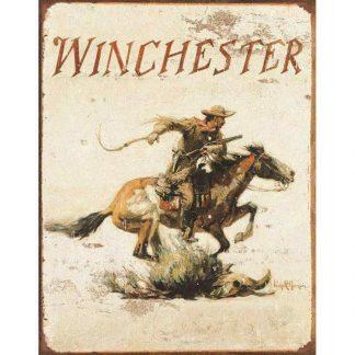 Winchester Logo Metal Tin Sign