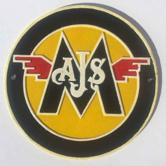 AJS Cast Iron Sign