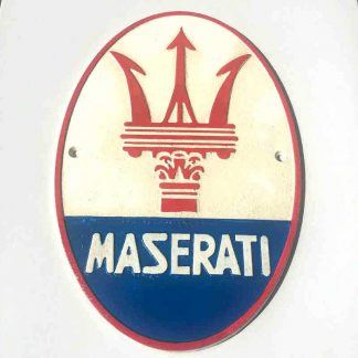 Maserati Cast Iron Sign