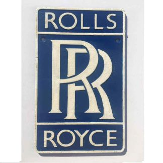 Rolls Royce Cast Iron Sign