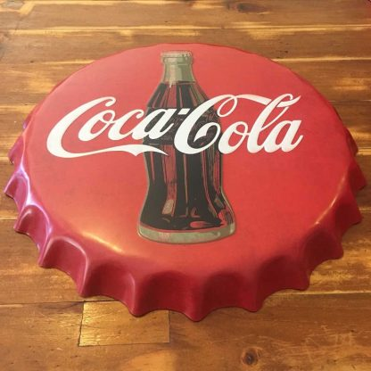 Coca Cola Embossed Beer Bottle Cap Sign