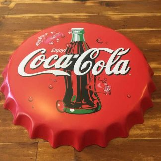 Coke Embossed Beer Bottle Cap Tin Sign