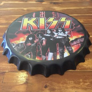 KISS Embossed Beer Bottle Cap Tin Sign