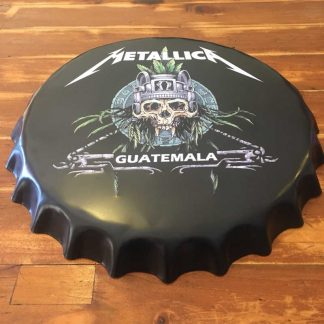 Metallica Embossed Beer Bottle Cap Tin Sign