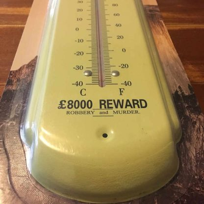 Ned Kelly Metal Thermometer