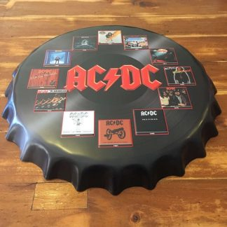 ACDC Embossed Beer Bottle Cap Tin Sign