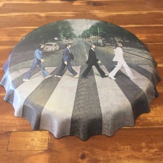 Beatles Abbey Road Embossed Beer Bottle Cap Sign