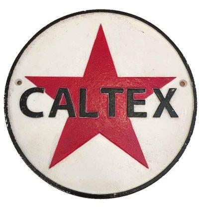 Caltex Cast Iron Sign