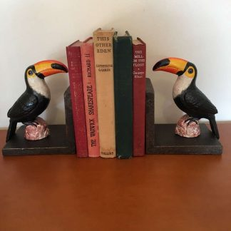 Cast Iron Toucan Bird Bookends