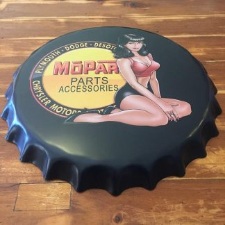 Mopar Embossed Beer Bottle Cap Tin Sign