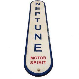 Blue Neptune Motor Spirit Cast Iron Sign