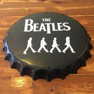The Beatles Abbey Road Embossed Beer Bottle Cap Sign