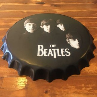 The Beatles Embossed Beer Bottle Cap Tin Sign