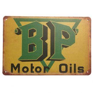 BP Motor Oils Tin Sign