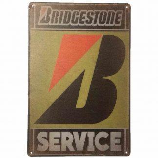 Bridgestone Service Tin Sign