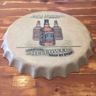 Jack Daniels Embossed Beer Bottle Cap Sign