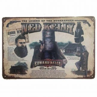 Ned Kelly Tin Sign