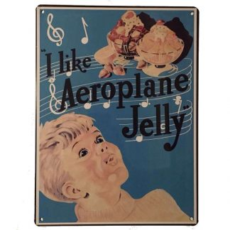 Aeroplane Jelly Tin Sign