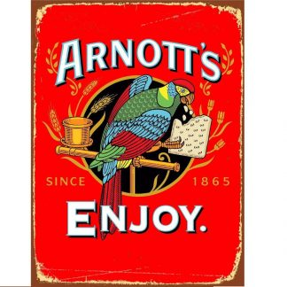 Arnotts Red Tin Sign