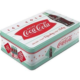 Coca Cola Embossed Flat Tin 3ltr