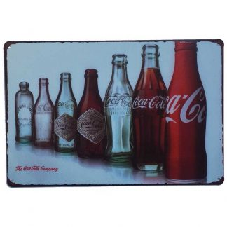 Coca Cola Evolution Set Tin Sign