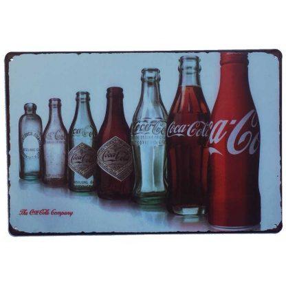 Coca Cola Evolution Set Tin Sign