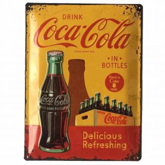Coke 1960 Embossed Tin Sign