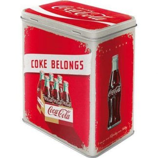 Coke Belongs Embossed Large Tin