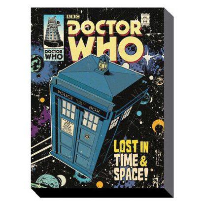 Doctor Who Comic Tardis Canvas