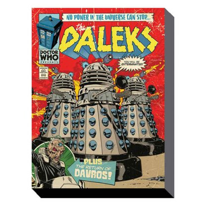 Doctor Who Daleks Are Coming Canvas