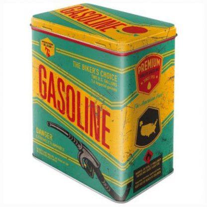Gasoline Embossed Large Storage Tin 3ltr