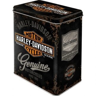 Harley Davidson Embossed Large Tin