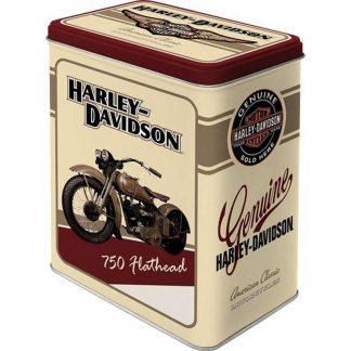 Harley Davidson Flathead Embossed Large Tin