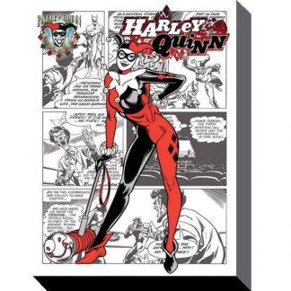 Harley Quinn Comic Canvas