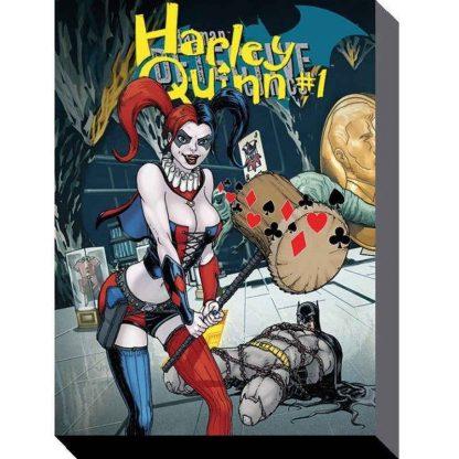 Harley Quinn Hammer Canvas