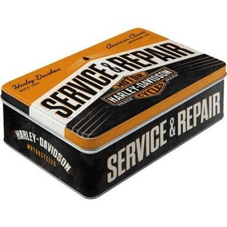 Harley Service & Repair Embossed Flat Tin