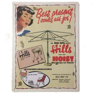 Hills Hoist Tin Sign