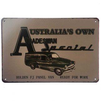Holden FJ Panel Van Tin Sign