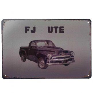 Holden FJ Ute Tin Sign