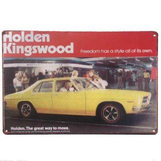 Holden Kingswood Tin Sign