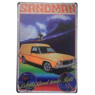 Holden Sandman Tin Sign