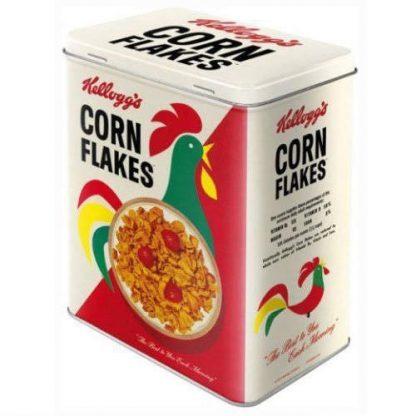 corn flakes embossed large tin