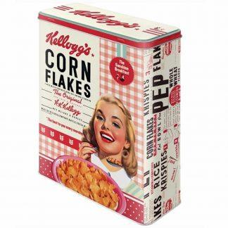 Kelloggs Girl Corn Flakes XL Storage Tin