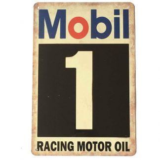 Mobil Tin Sign