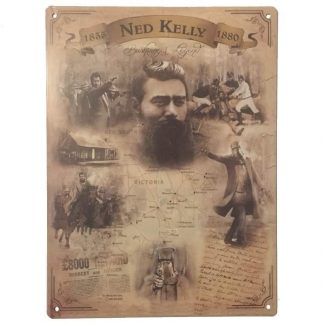 Ned Kelly Bushranger Legend Tin Sign