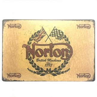 Norton Tin Sign
