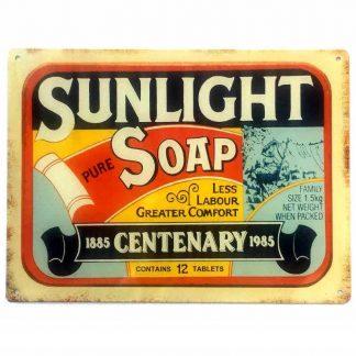 Sunlight Soap Tin Sign
